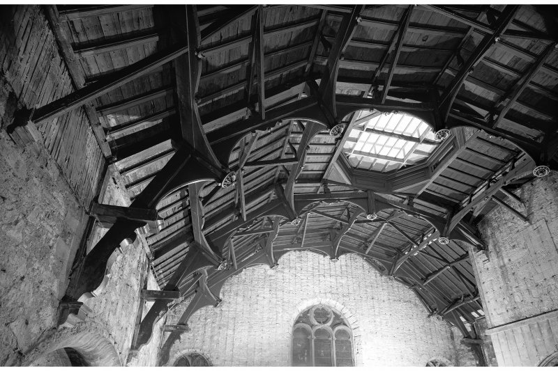 Interior-general view of roof structure from South East