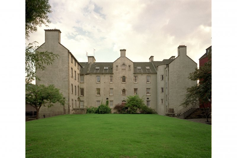 View of Chessel's Court courtyard, South block, from North