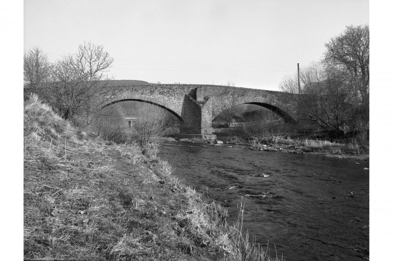 Earlston, Mill Road, Old Bridge View from WNW