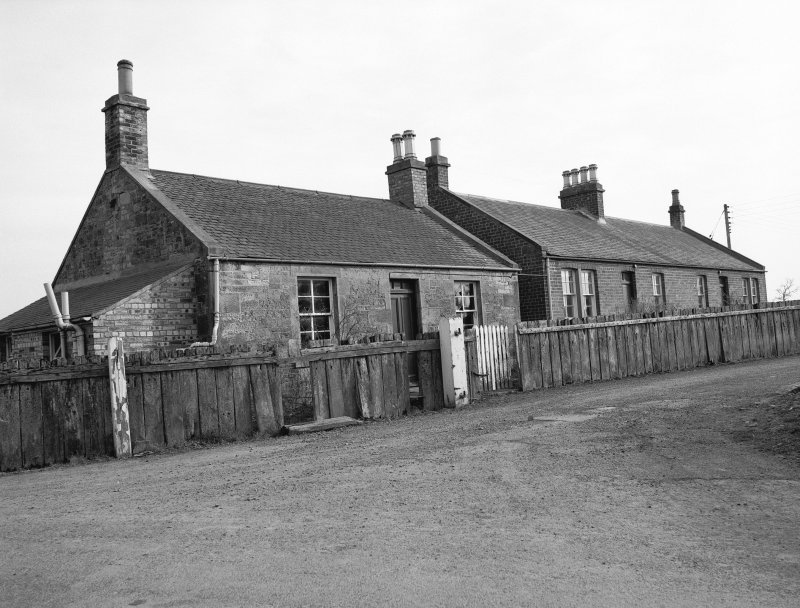 View of Hassendean Station cottages from N