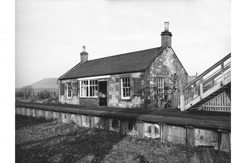Hassendean Station, Station building View from SW