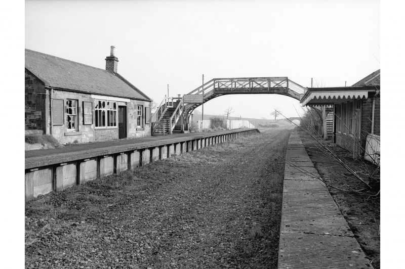 Hassendean Station, platform General view looking SSW