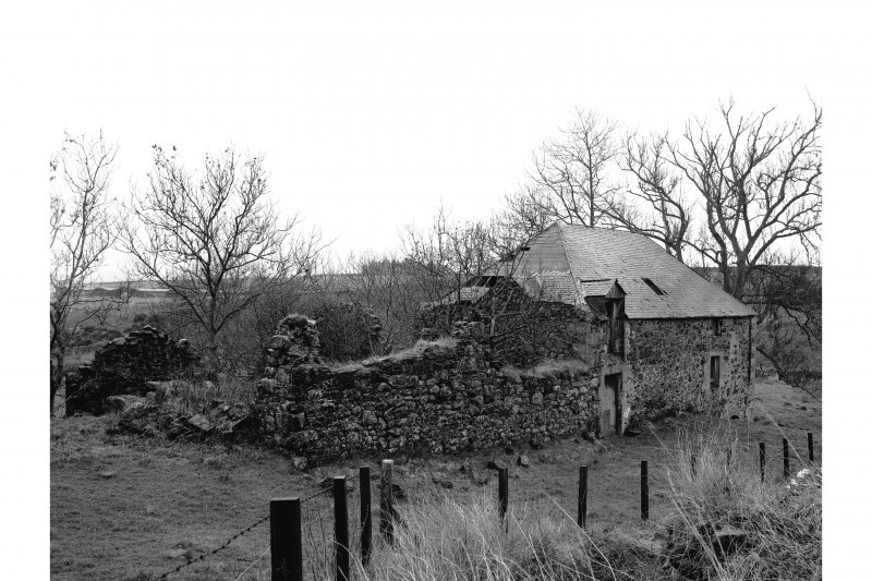Gordon Mid Mill View from NE with ruined unidentified building in foreground