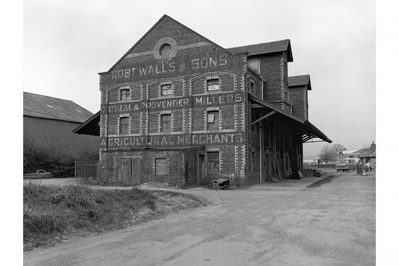 View of grain store, Kerse Road, Stirling, from SW.