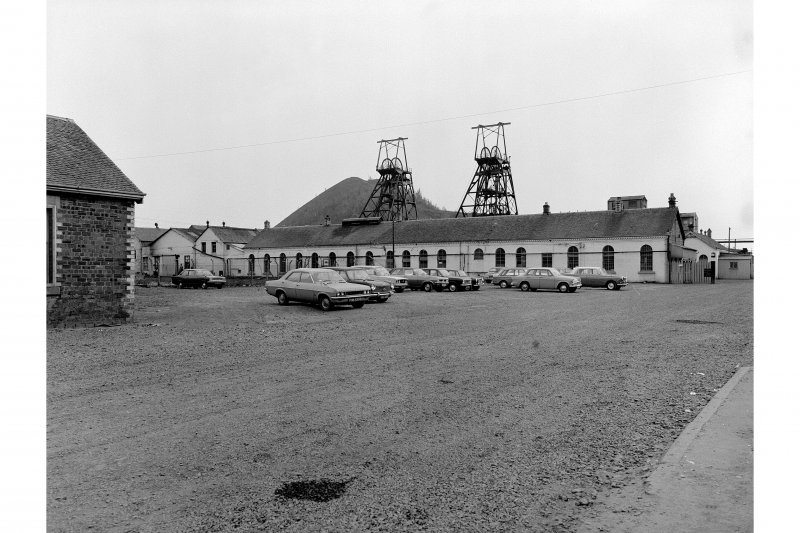 View from NNW showing main building and head frames.