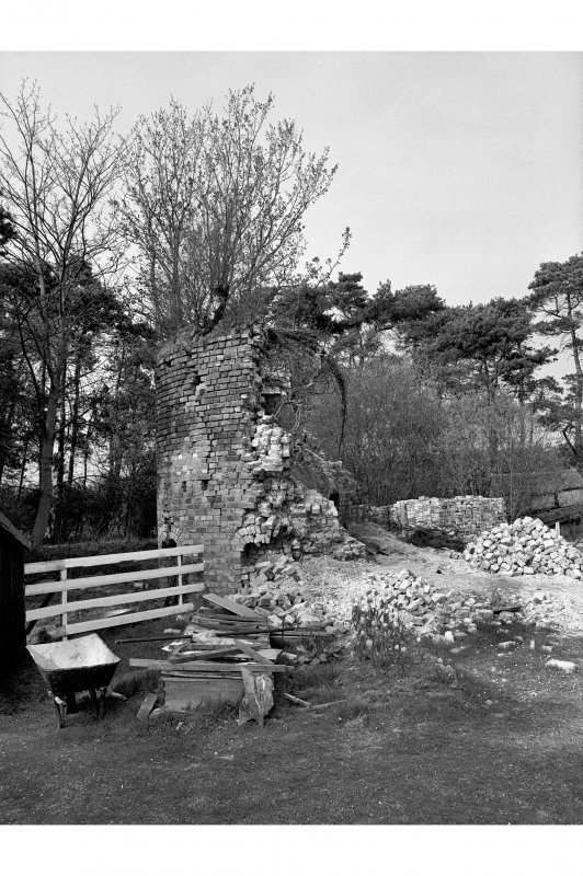 Dunmore Pottery View from S showing collapsed kiln