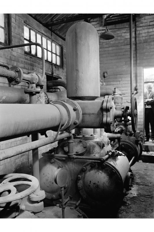 Clydebank, Singer's Sewing Machine Factory, interior View of Worthington Fire Pump
