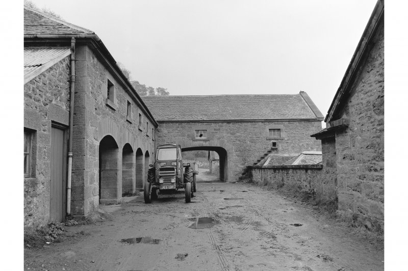 Locherlour Steading View from WSW showing implement sheds