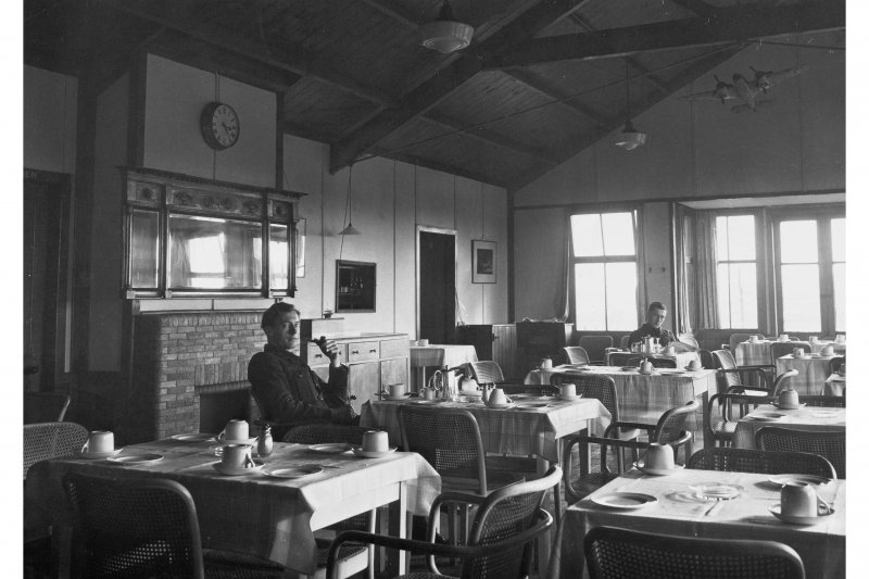 Interior view of  Parachute Cafe, Drem Airfield
