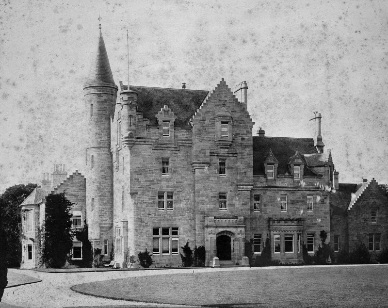 Copy of photograph showing general view of Castle