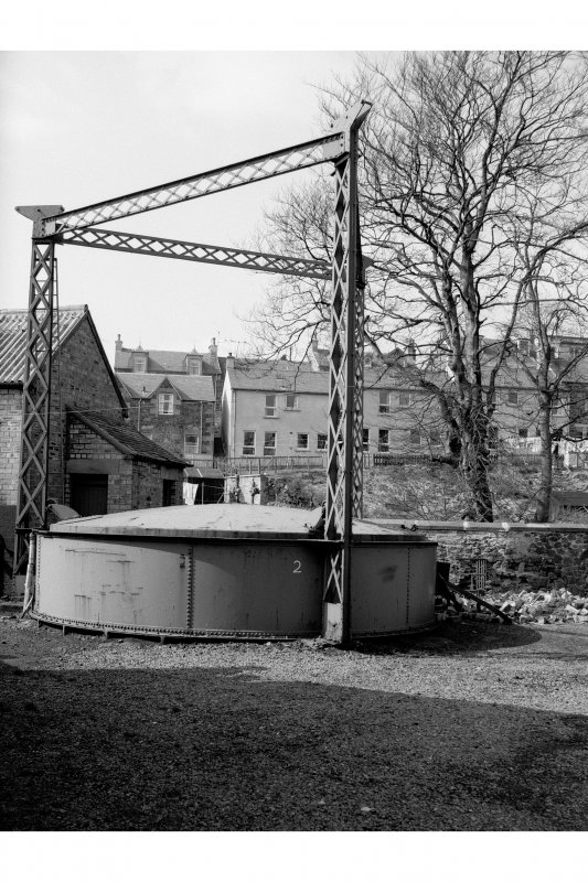 Biggar, Gasworks Road, Gasworks View of gas-holder with triform hoisting