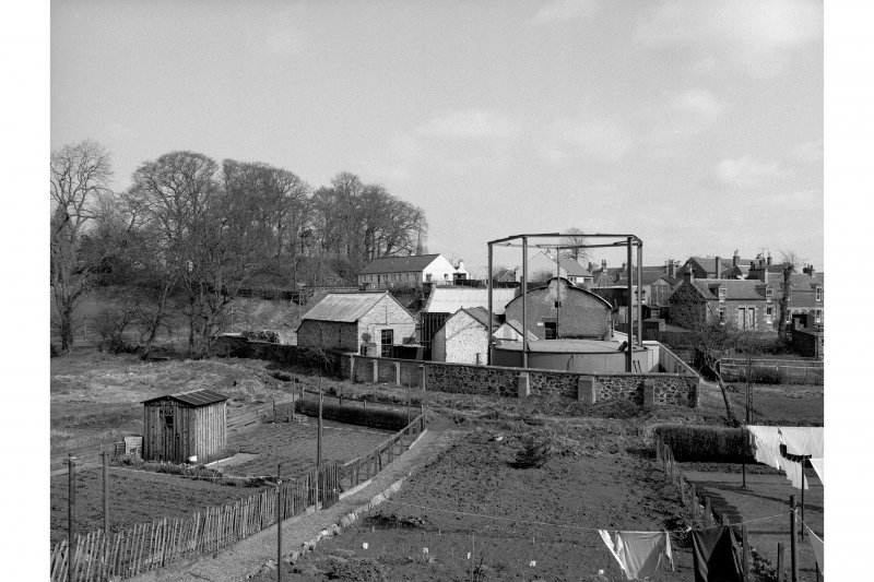 Biggar, Gasworks Road, Gasworks General view from W