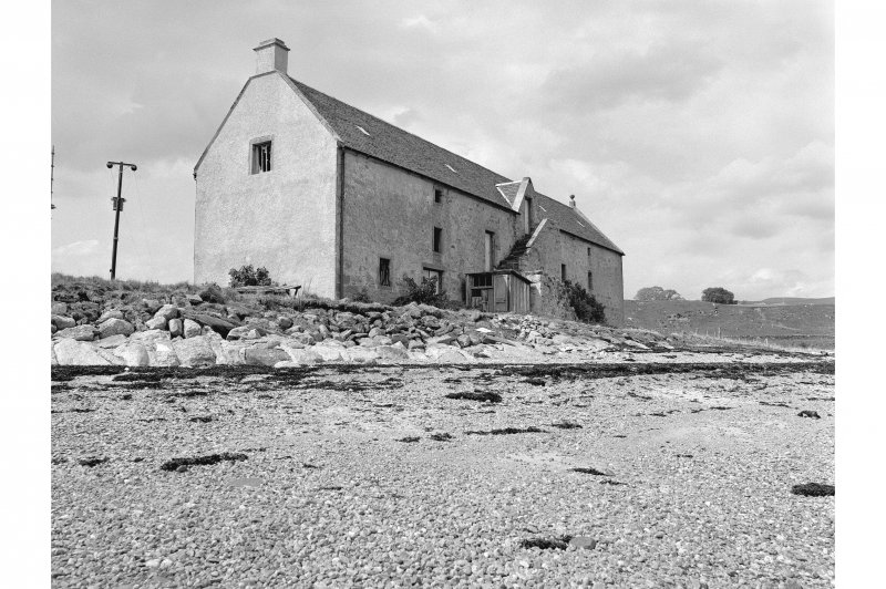 Foulis Point, Granary View of E facing elevation with external stair