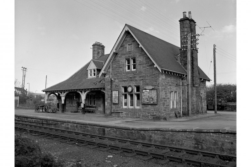 View of main station house, Golspie Station, looking E. The building is now a private house.