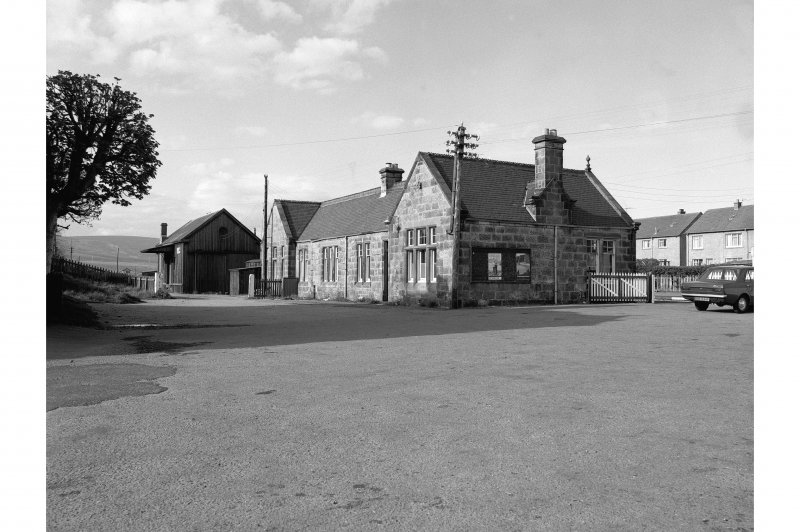 Brora, Victoria Road, Station View of station frontage  from SW