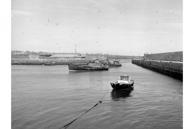 Wick, Lower Pulteneytown, Harbour General view of boats in Lower Harbour