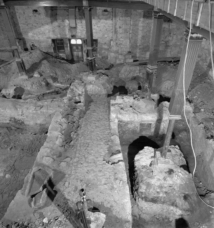Interior. General view from North West during excavations
