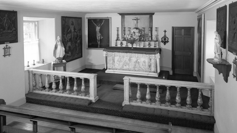 Traquair House, chapel View of interior