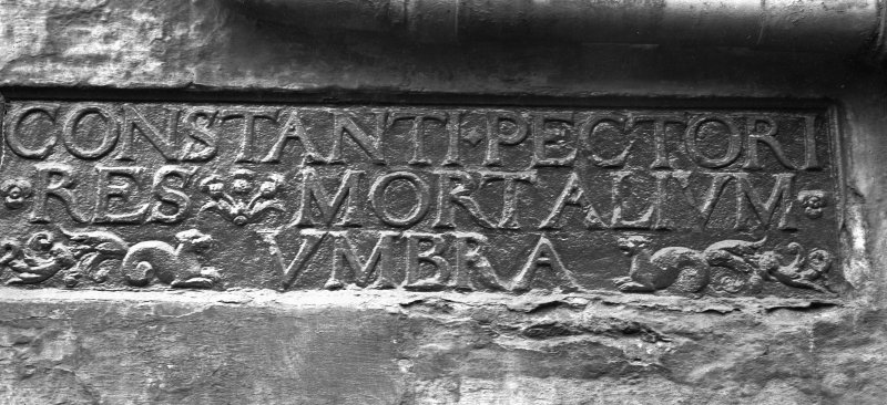 Inscribed panel