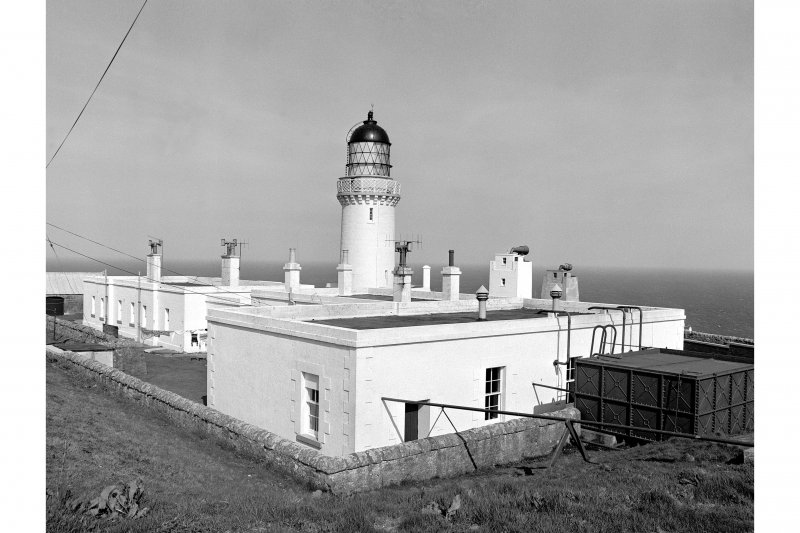 Scanned image of a photograph showing  Dunnet Head Lighthouse, general view from SE