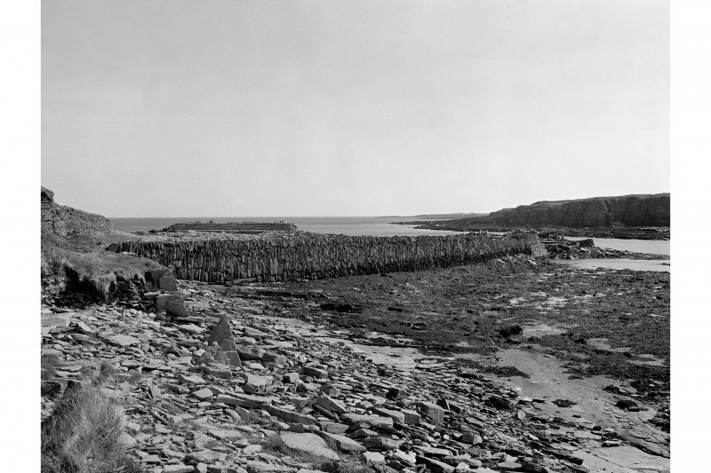 Ham Harbour View from SE showing S and N walls