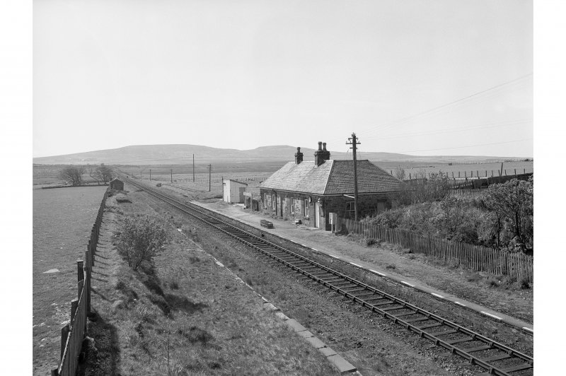 Scotscalder Station View from E showing station building
