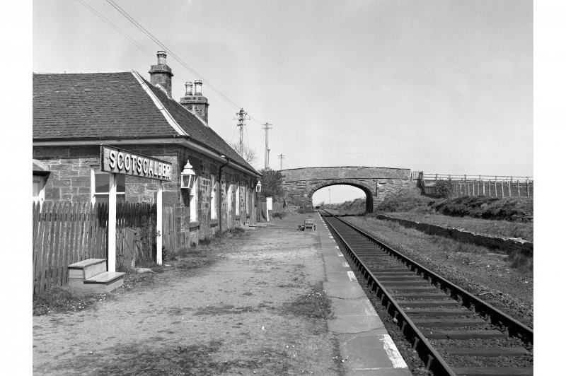 Scotscalder Station View looking ENE showing station building and bridge