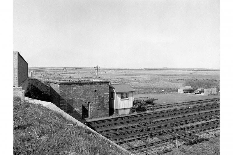 Georgemas Junction Station View from SSW showing E signal box and base of old water tower