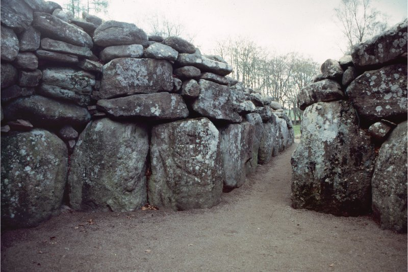 View showing the chamber of the NE passage-grave.