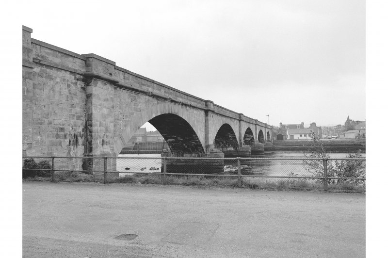 Inverness, Ness Viaduct General view of upstream side from Anderson St (W)