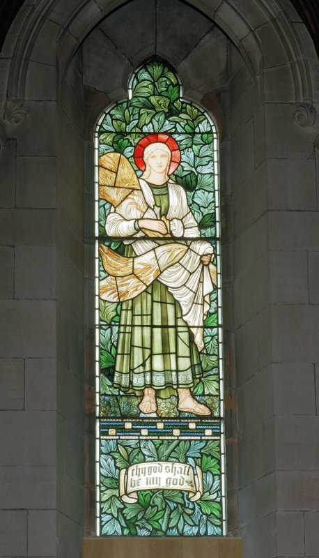 View of stained glass window 'Thy God Shall Be My God', St Luke's and Queen Street Church, Broughty Ferry, Dundee.