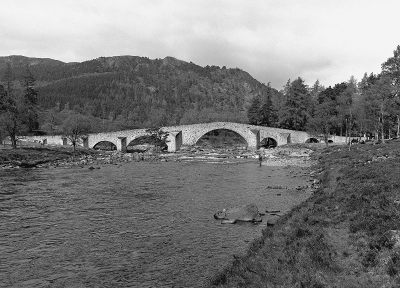 Invercauld, Bridge of Dee View from W upstream bank