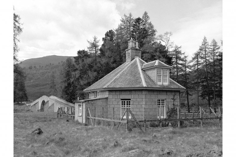 Invercauld, Tollhouse View from N, Bridge of Dee in background