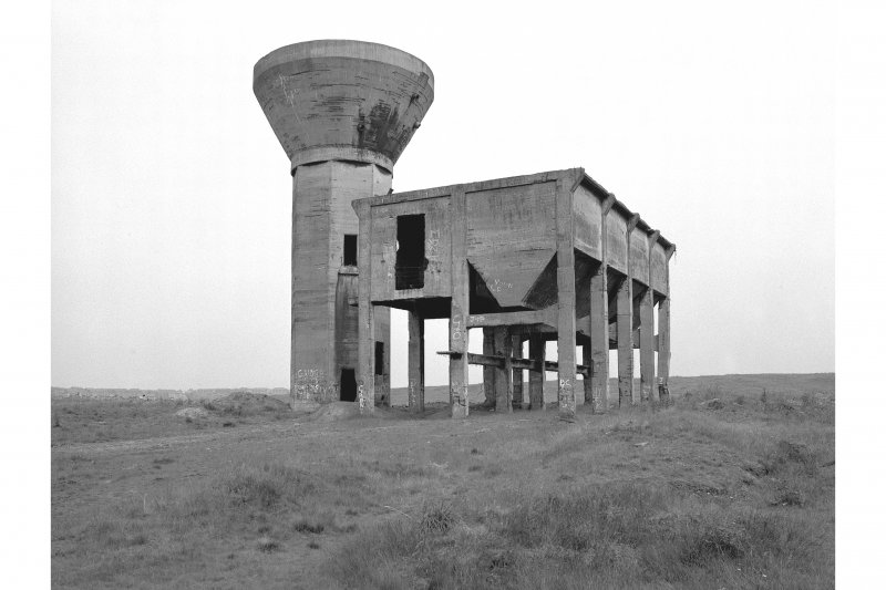 Robroyston Colliery, Separator Tower and Bunker View from SW