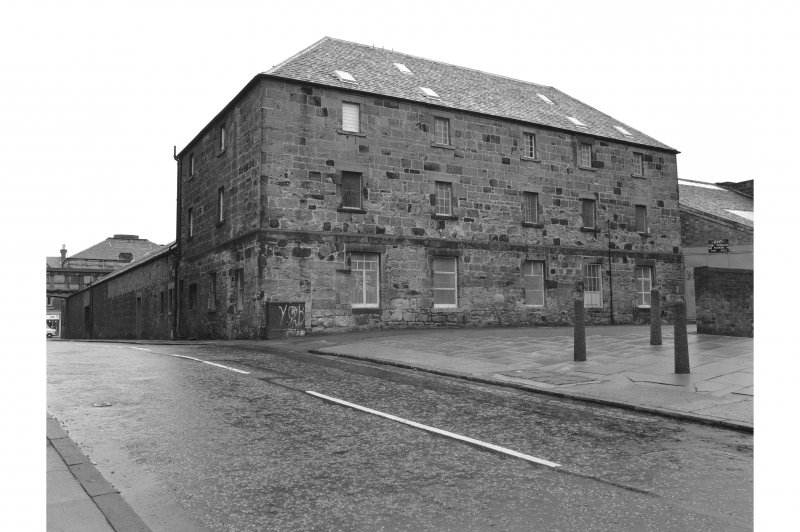 Dunfermline, Pilmuir Works NW section of mill from Foundry Street (looking SE)