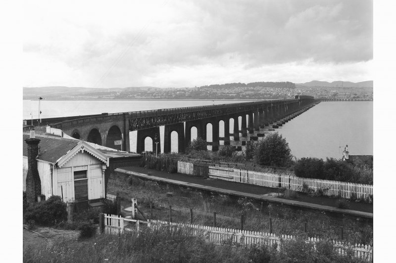 Wormit, Tay Bridge View from Naughton Road, Wormit (from SE), Wormit Station in left foreground