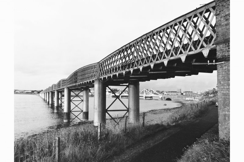 Montrose, Inchbroach Viaduct View of upstream (W facing) side from S bank
