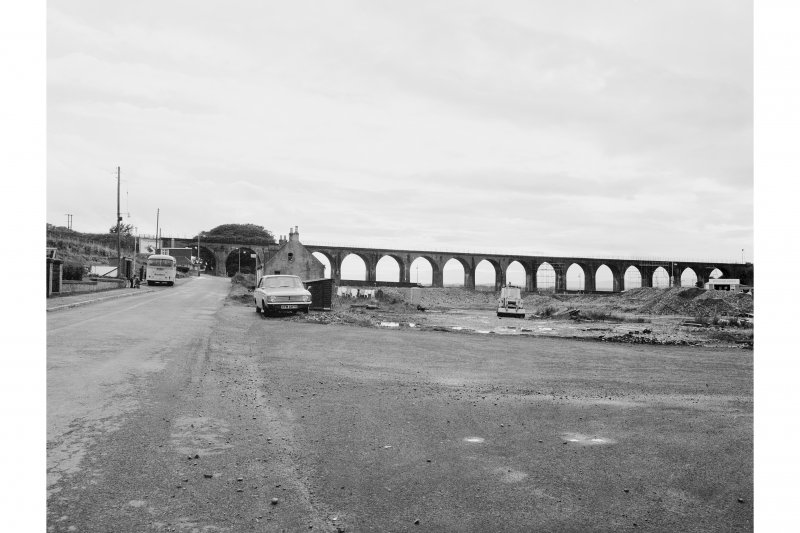 Ferryden Viaduct General view from Burnside Road (from E)