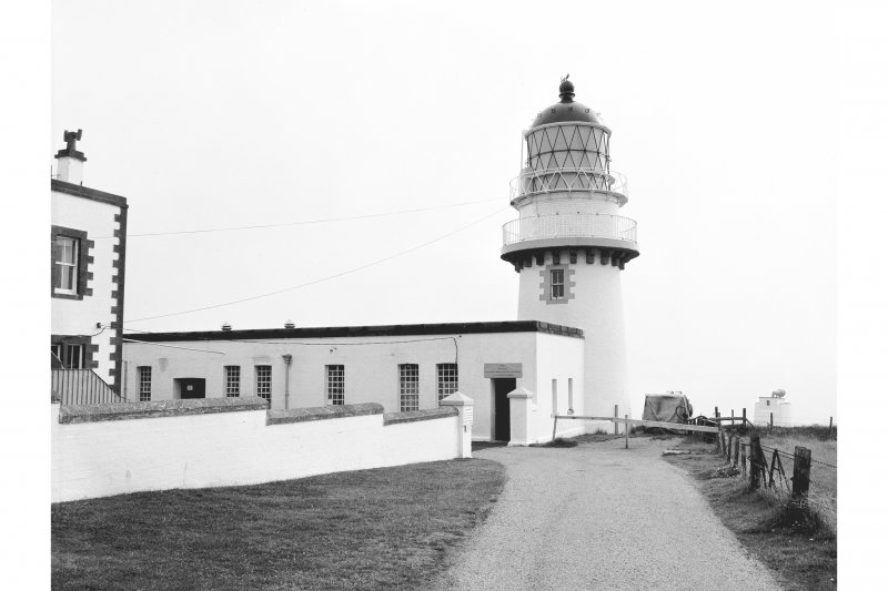Todhead Lighthouse View from SW showing entrance and tower