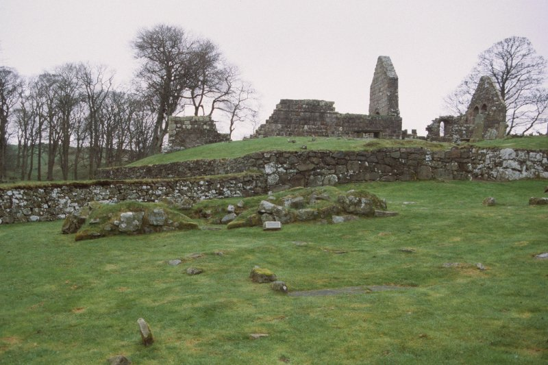 View of church and lower graveyard, taken from the SW.