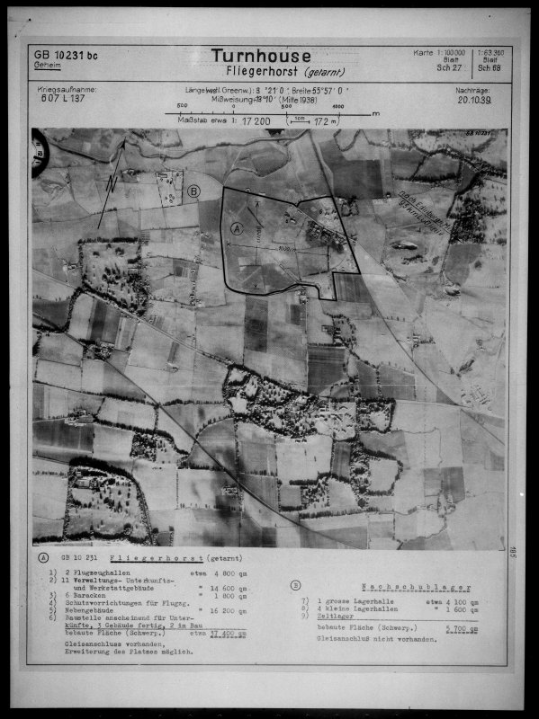 Scanned image of Luftwaffe vertical air photograph of Turnhouse Airfield, Edinburgh and surrounding area.