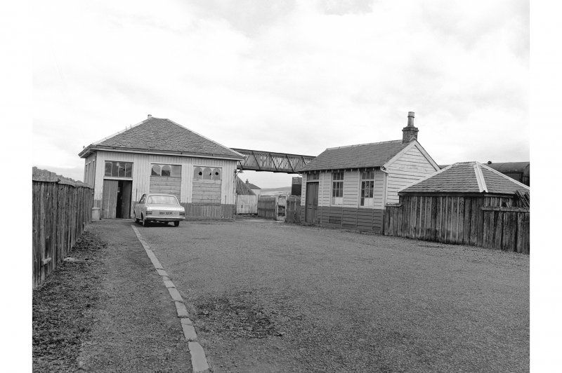 Coupar Angus Station View from W showing forecourt