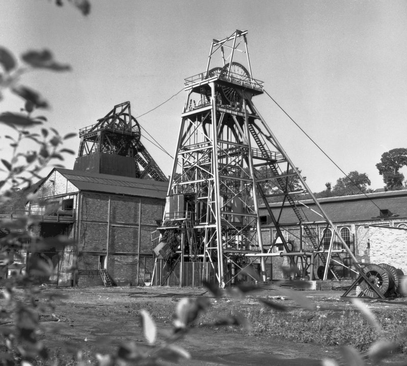 High Valleyfield Colliery, photograph General view of winding frames