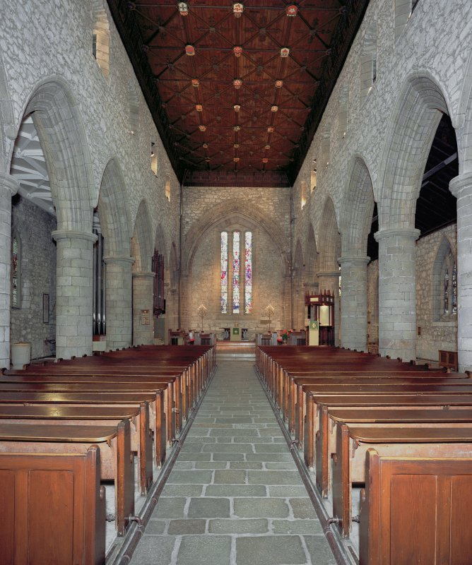 St Machar's Cathedral. View of interior from W.