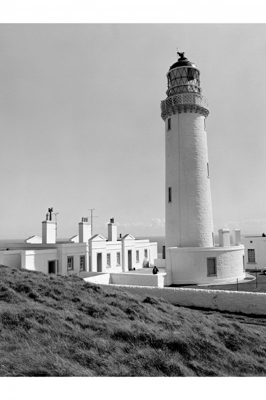 Mull of Galloway, Lighthouse View from NW showing tower and light keepers' houses with classical features