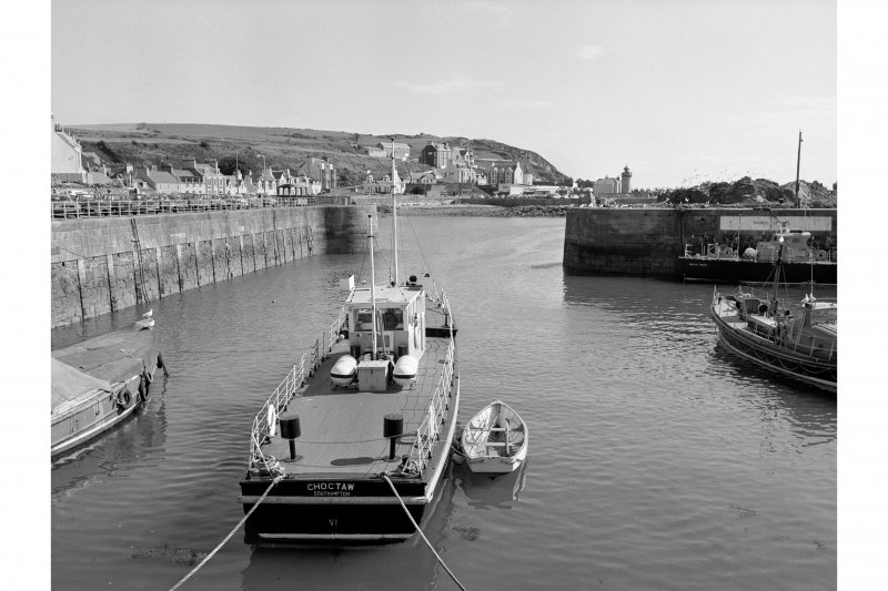 Portpatrick Harbour View looking SE showing lighthouse and entrance to basin