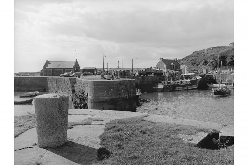 Portpatrick Harbour View looking W showing entrance to basin