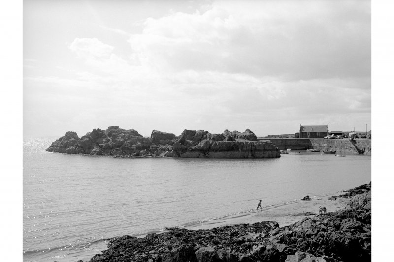 Portpatrick Harbour View looking E showing Dorn Rock and SE side of basin