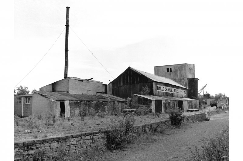 Knowehead, Brickworks View from NW showing main building