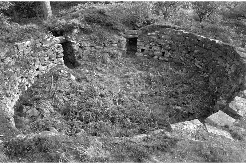 Publication photograph: Tappoch Broch, interior from N.